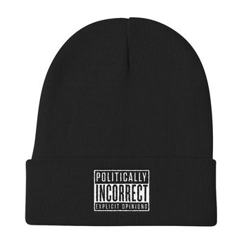 Politically Incorrect Knit Beanie