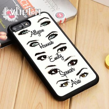 LvheCn Cute Pretty little liars 05 Phone Case Cover For iPhone 5 5s SE 5C 6 6s 7 8 10 X Samsung Galaxy S5 S6 S7 edge S8 S9 plus