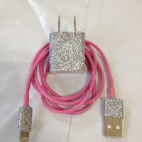 Customized Glitter Samsung Galaxy Charger  In different colors glitter & 3 in 1 Charger