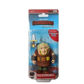 Loyal Subjects How to Train Your Dragon Fishlegs Racing Stripes Action Vinyl Figure
