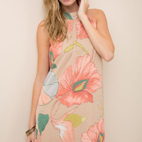 Caribbean Nights Dress - Taupe
