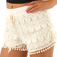 A Leap Of Faith Shorts: Cream