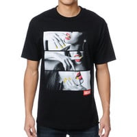 Popular Demand Lips And Nails Black Tee Shirt at Zumiez : PDP