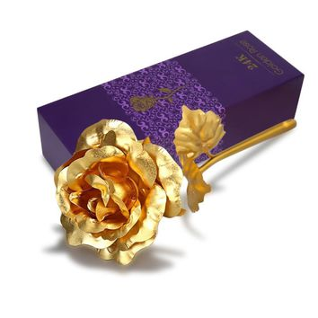 24K SOLID GOLD ROSE