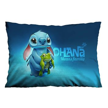 OHANA DISNEY LILO AND STITCH Pillow Case Cover Recta