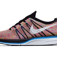 Nike Flyknit Trainer Black/White/Blue Glow/Volt