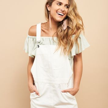 Summer Whites Overall Dress