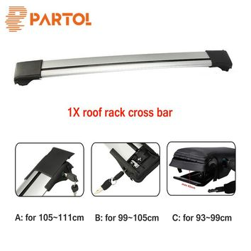 Partol 1x Car Roof Rack Crossbar Roof Luggage Carrier Roof Rail Snowbord Bike Rack Anti-theft Lock System For 93 99 105 111cm