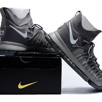 2017 Nike  Zoom KD 9  Kevin Durant 9 Ⅸ  Gray /White   Basketball Shoes