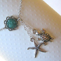 Starfish Ankle Bracelet, Starfish Anklet, Turtle Anklet, Turtle Ankle Bracelet, Choose Your Color
