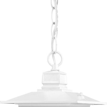 """12"""" Outdoor Hanging Lights in White Finish"""