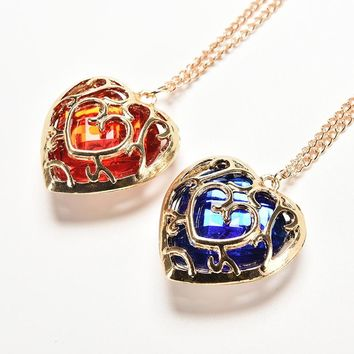 Legend of Zelda Skyward Sword Heart Container Necklace Pendant Anime