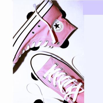 Converse All Star Sneakers Adult Leisure High-Top Leisure shoes pink