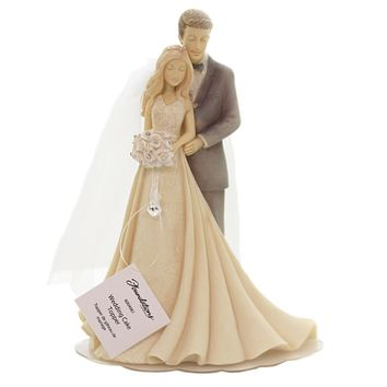 Foundations WEDDING CAKE TOPPER Polyresin Marriage Couple 6004961