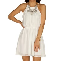 Ivory Soft Pleats Dress