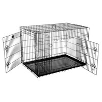 """Pet Trex 42"""" Folding Pet Crate Kennel Wire Cage for Dogs - Cats or Rabbits"""