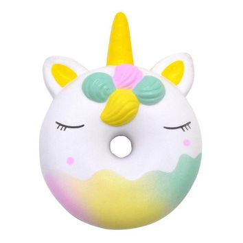New Unicorn Donut Squishy Cake Bread Squishies Cream Scented Slow Rising Squeeze Toy Children Gift