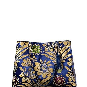 Tory Burch Fleming Floral Triple-compartment Tote