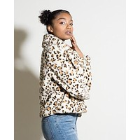 Cropped Leopard Coat