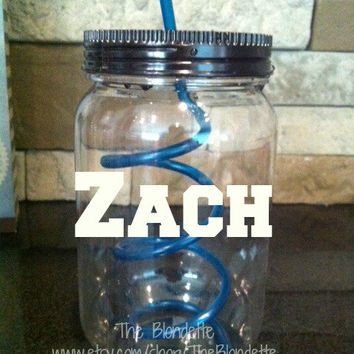 Purple. Green. Pink. Blue Personalized Tumbler with name in white.