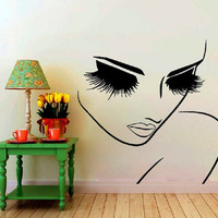 Woman Face Eyes Wall Decals