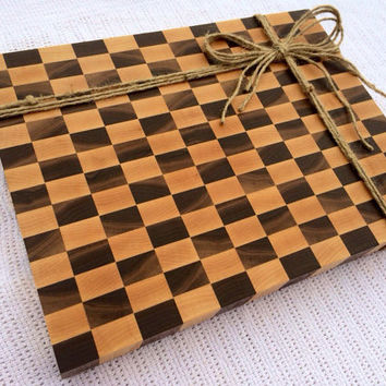 Checkered Board End Grain Cutting Board