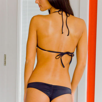 Black Brazilian Scrunch Bikini Bottom