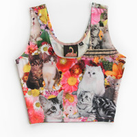 Kitty Garden Party Crop Top