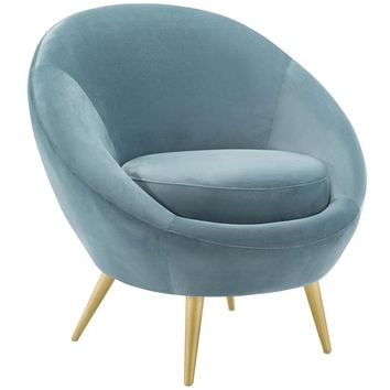Circuit Performance Velvet Accent Chair