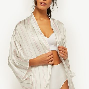Satin Striped Robe