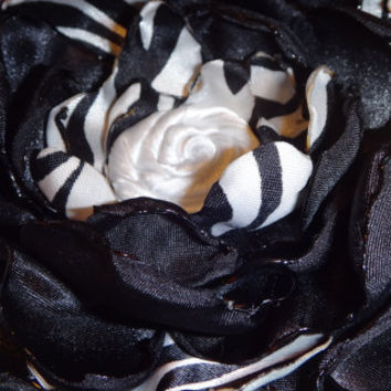 Gorgeous Black Zebra Print Satin Fabric by AffordableAdorableKC