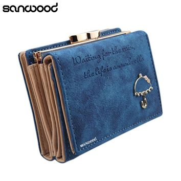 2016 Women Umbrella Faux Leather Clutch Trifold Wallet Credit Card Holder Carteira 9IJW