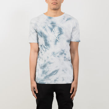 Circle Logo T-Shirt - Blue Tie Dye