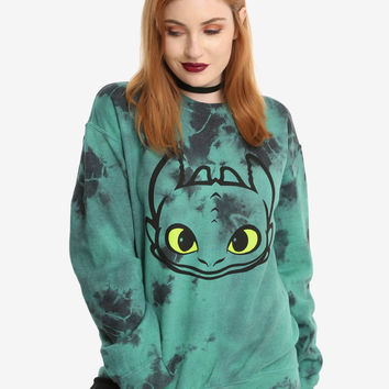 How To Train Your Dragon Toothless Tie Dye Girls Sweatshirt