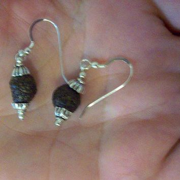 Silver Earrings Handmade from Silver and Rabbit Drops  Unusual ear decorations