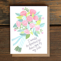 Bridesmaid Bouquet card