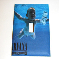 Light Switch Cover - Light Switch Plate  Nirvana Nevermind