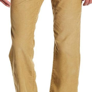 New with Tag - True Religion Men's Corduroy DHX-Straw Straight Flap Pant