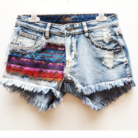 Tribal Patch Cut Off Shorts