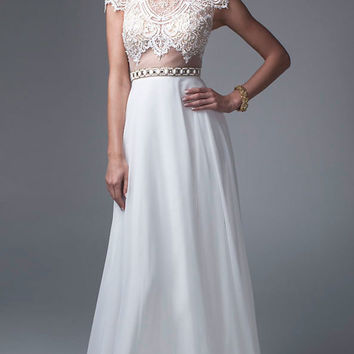 Mock Two Piece Gown by Brit Cameron