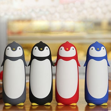 280ml Penguin inox Cup Thermal Mug Vacuum Insulation  Bottle Thermos Cafe Coffee Water Bottle Tumbler Water Tea Flask Kid Gift