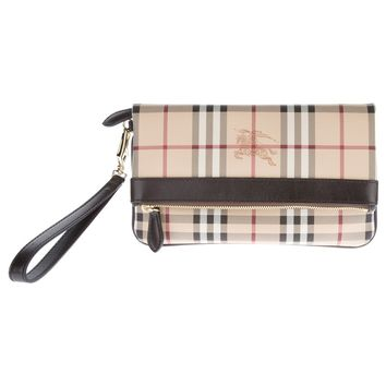 Burberry London 'Adeline' Coated Clutch