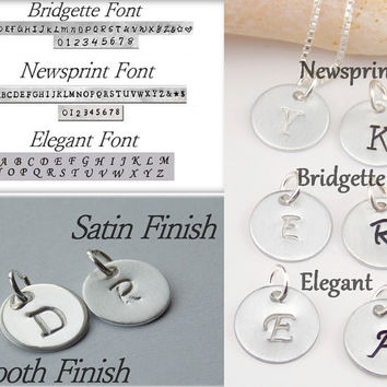 Initial necklace Personalize Woman Minimal necklace Personalize Teen Letter Necklace Monogram Necklace Initial jewelry Silver by stampsink