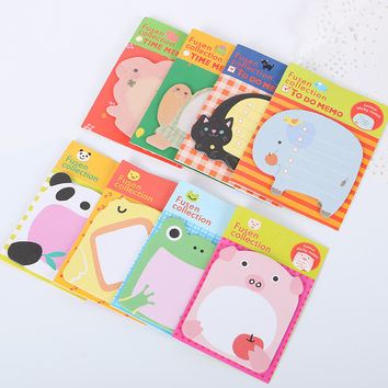 1pcs Kawaii Unique Scrapbooking Forest Animal Series Staicker Office Supplies Flags Memo Book Marker Sticky Notes