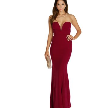 Sophia-burgundy Formal Dress