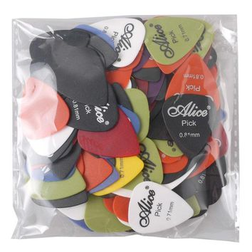 Alice Guitar Picks Custom 0.58 0.71 0.81 Mixed Plectrum Assorted Colors Guitarra Palheta Musical Instrument Free Shipping