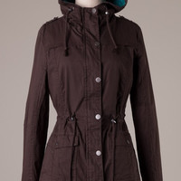 Dark Brown and Teal Fall Jacket