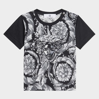 Young Versace Iconic Baroque Cotton T-Shirt for Boys | Official Website