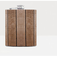 Wooden fence hip flask - Cool present - Gift for him, for her - Hip flask - Unique gift for men - Rum flask - Funny gift