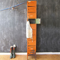 Three Potato Four - Tall Industrial Orange Locker Set